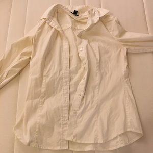 Ann Taylor White Dress Shirt